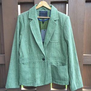 NWT BITTEN SJP green tweed jacket blazer